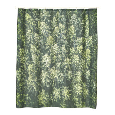 tenda per doccia DARK GREEN FOREST