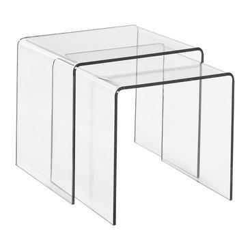 Table gigogne 2 pieces PLEXI