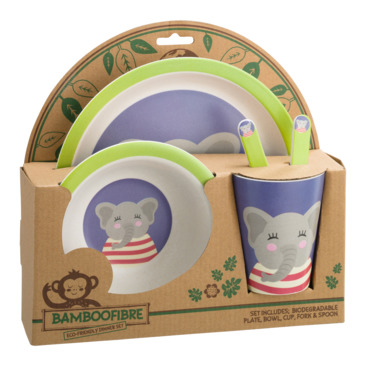 Kinder Geschirr-Set ANIMALS