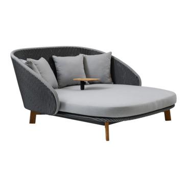 chaise longue de jardin PEACOCK