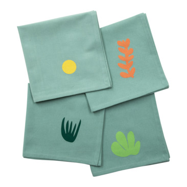 serviette GREEN