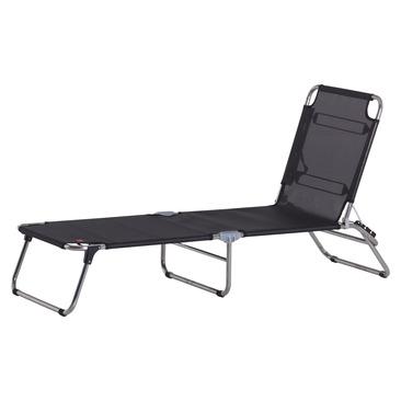 chaise longue PLAYA ALU SCHWARZ