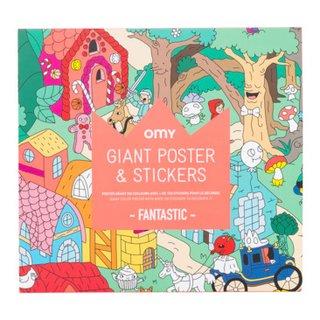 poster en papier à colorier KIDS