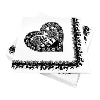 serviettes en papier SWISS HEART