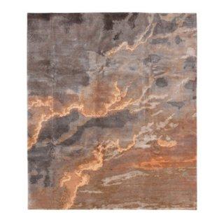 tappeti di design nepalesi/tibetani Tib. Nepal Heiter bis Wolkig