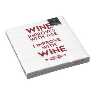 Papierserviette WINE IMPROVES