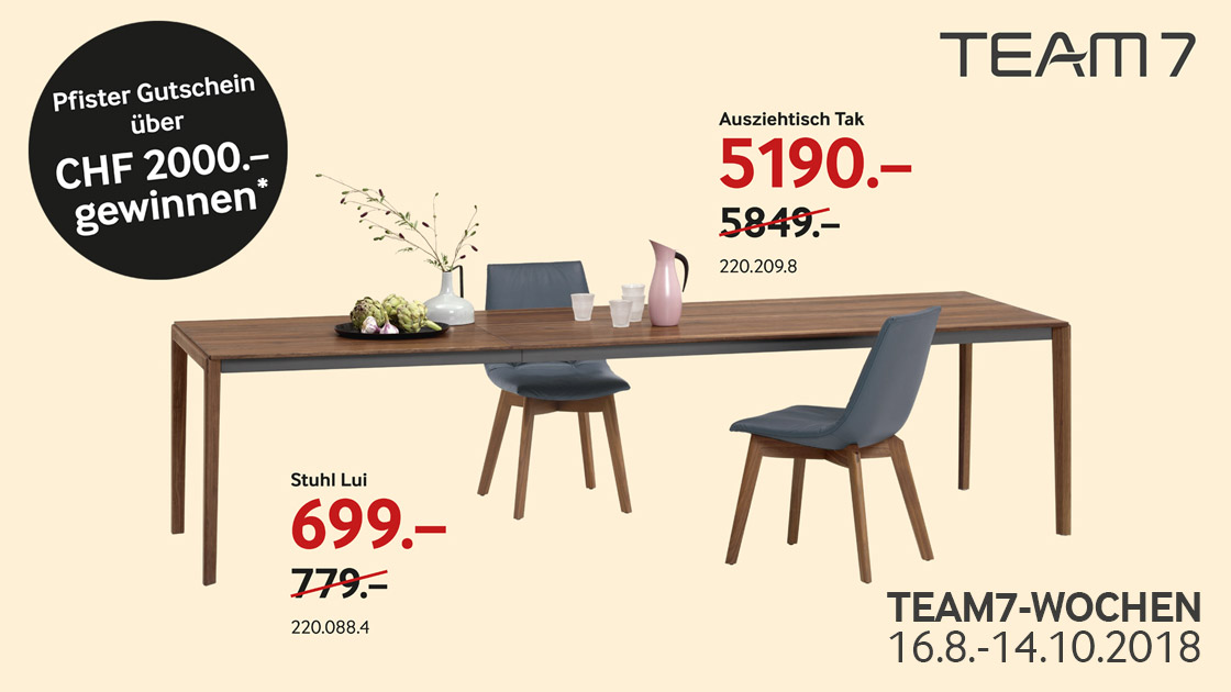 TEAM 7-Möbel online kaufen · Pfister